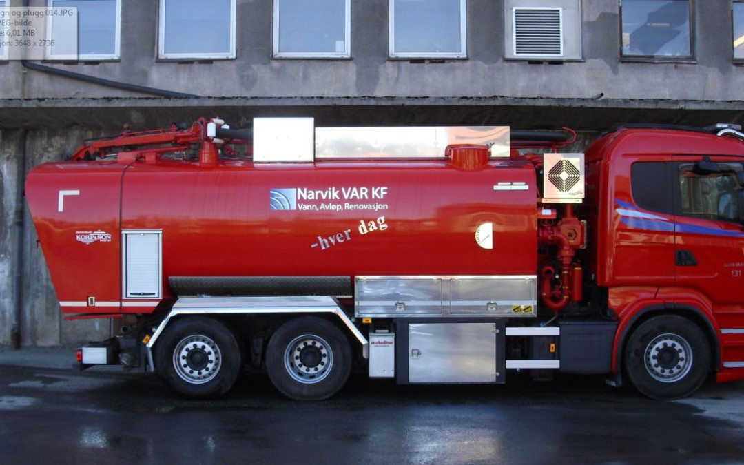 Pluggkjøring og rengjøring av vannledninger på Oscarsborg og sør for Tøttaveien