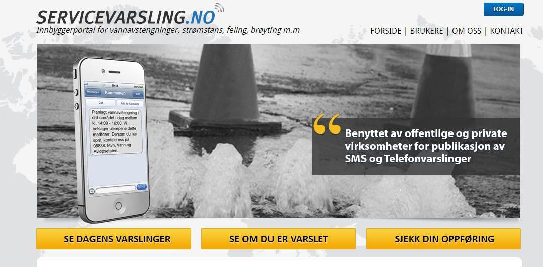 Får du SMS – varsel på telefonen når vannet stenges ?