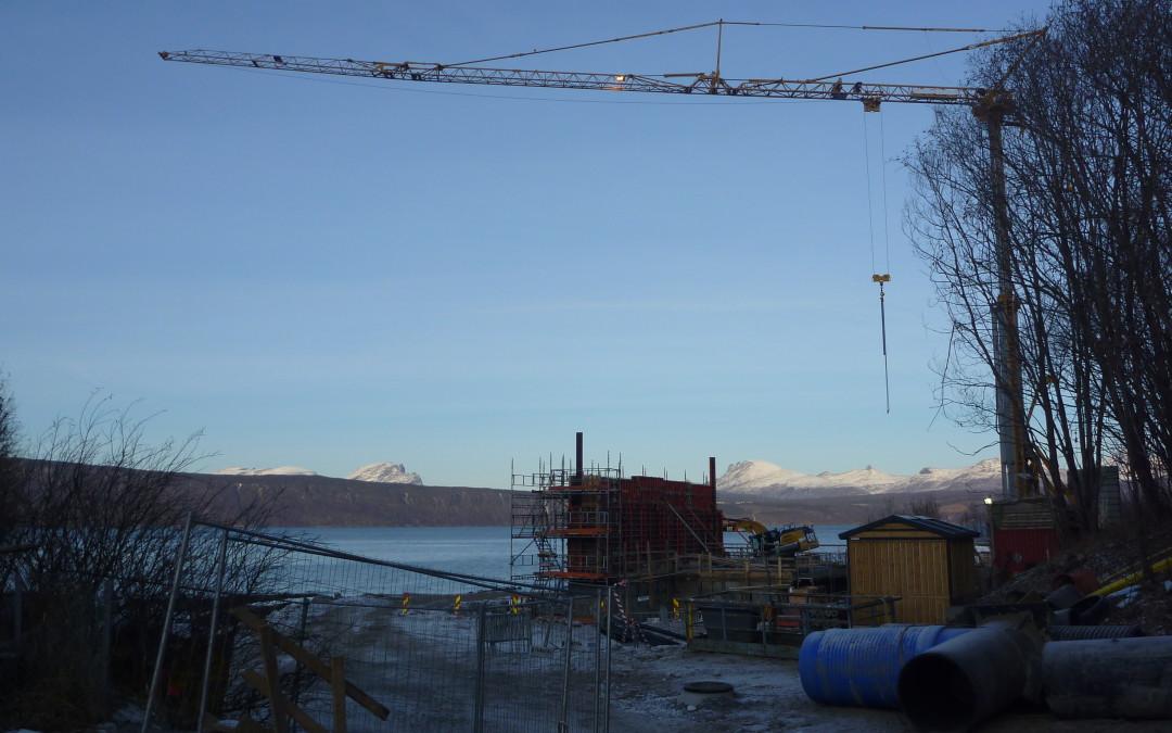 Bilder fra Narvik avløpsrenseanlegg – under bygging