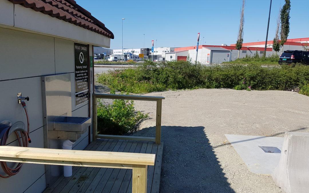 Narvik Vann KF har anlagt tømmestasjon for bobil/campingvogn