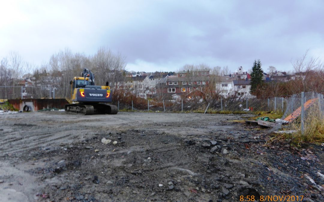 Det gamle avløpsrenseanlegget i Taraldsvik er revet