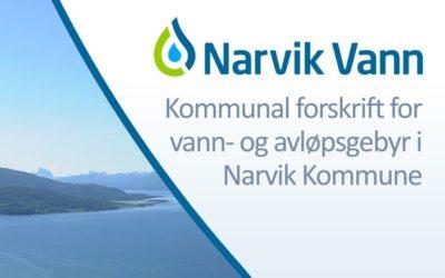 Høring: Forslag til «Kommunal forskrift for vann- og avløpsgebyr i Narvik kommune, Nordland» gjeldende fra 01.01.2020