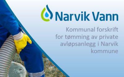 Høring: Forslag til «Kommunal forskrift for tømming av private avløpsanlegg, Narvik kommune, Nordland» gjeldende fra 01.01.2020