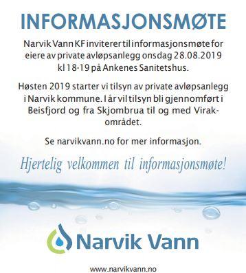 Informasjonsmøte for eiere av private avløpsanlegg i Beisfjord og Virak