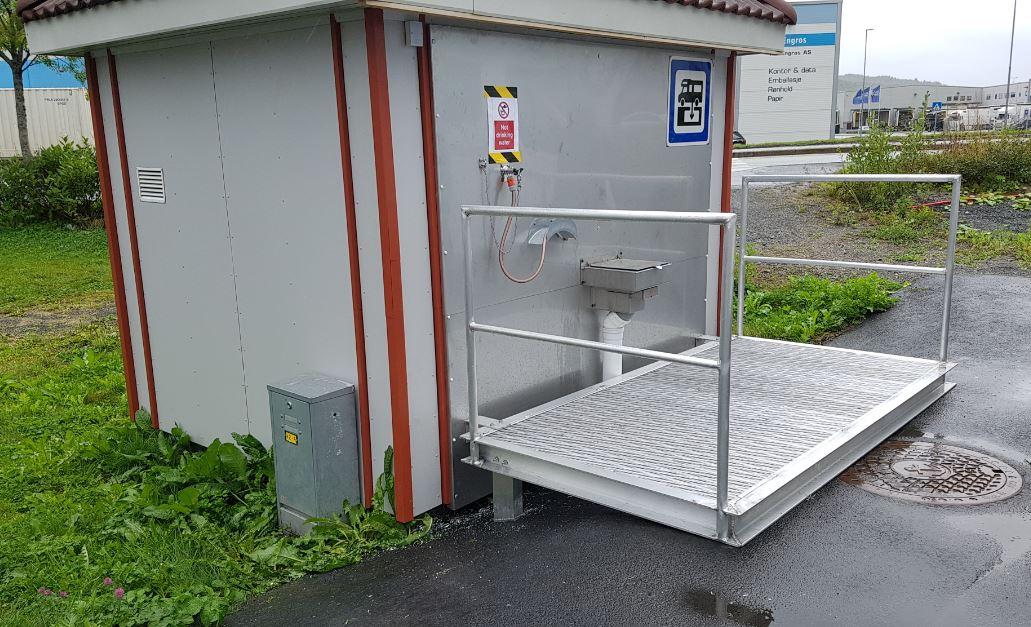 Tømmestasjon for bobil og campingvogn på Fagernes er oppgradert